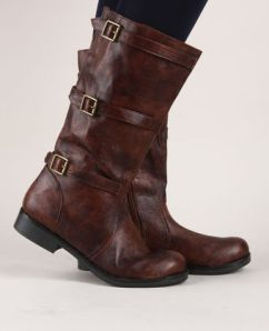 Boots with buckles on the side.  $47.00 at Lulus.com